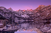 Dramatic Light Framed Prints - Lake Sabrina Sunrise Eastern Sierras California Framed Print by Dave Welling
