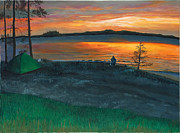 Paintings Available As Prints - Lake Saimaa in Finland by Phillip Compton