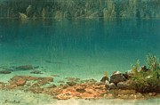 Famous Artists - Lake Scene by Albert Bierstadt