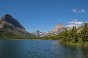 Lake Sherburne In Glacier National Park 2 Print by Natural Focal Point Photography