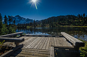 Amazing Landscape Prints - Lake Side Pier Print by Puget  Exposure