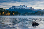 Mount Shasta Posters - Lake Siskiyou Morning Poster by Greg Nyquist