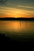 Sunset Posters Photo Framed Prints - Lake Sunset 2 Framed Print by Linda Fowler