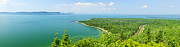 Treetops Prints - Lake Superior panorama Print by Elena Elisseeva