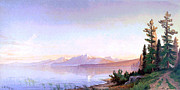 J. R. R. Prints - Lake Tahoe 1872 Print by J R Key