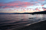 Lapping Prints - Lake Tahoe Beach Print by Art Block Collections