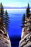 Lake Tahoe Paintings - Lake Tahoe Framed by Frank Wilson