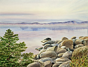 Lake Tahoe Paintings - Lake Tahoe by Irina Sztukowski