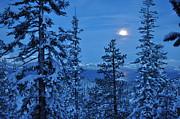 Lake Tahoe Moonset Print by Bruce Friedman