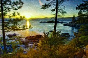 Sand Harbor Prints - Lake Tahoe Painting Print by Scott McGuire