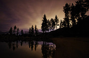Astrophotography Metal Prints - Lake Tahoe Sand Harbor Silhouette Metal Print by Scott McGuire