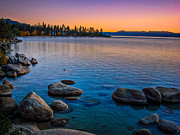 Lake Photos - Lake Tahoe State Park Fall Sunset by Scott McGuire