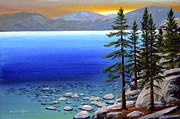 Nevada Painting Posters - Lake Tahoe Sunrise Poster by Frank Wilson