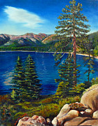 Reno Nevada Painting Prints - Lake Tahoe Print by Susan Duda
