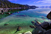 Blue Green Water Art - Lake Tahoe Waterscape by Scott McGuire