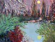 Lake Tranquility Print by Alys Caviness-Gober