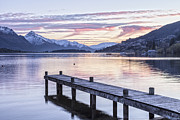 Dawn Photos - Lake Wakatipu Otago New Zealand at Dawn by Colin and Linda McKie