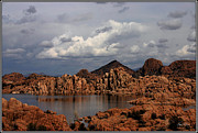 Wayne King Acrylic Prints - Lake Watson Panorama Acrylic Print by Wayne King