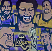 Magic Johnson Paintings - Laker Love by Tony B Conscious