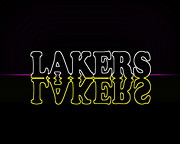 Lakers Digital Art - Lakers by Shukis Lockwood