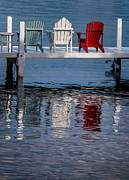 Chair Photo Metal Prints - Lakeside Living Number 2 Metal Print by Steve Gadomski