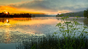 New England Landscape Prints - Lakeside Sunrise Print by Bill  Wakeley