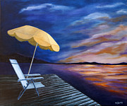 Lawn Chair Originals - Lakeside Sunset by Michelle Joseph-Long