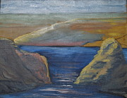 Waterscape Painting Prints - Lakethur Print by Don Nemer