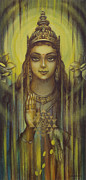 Yantra Framed Prints - Lakshmi kripa Framed Print by Vrindavan Das