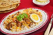 Supper Bowl Posters - Lamb Biryani Poster by Colin and Linda McKie