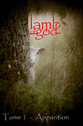 Easter Photographs Posters - Lamb of God book cover Poster by Loriental Photography