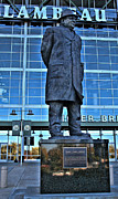 Vince Lombardi Prints - Lambeau Field and Vince Print by Tommy Anderson