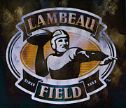 Pro Football Teams Posters - Lambeau Field Poster by Deena Stoddard