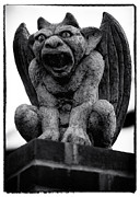 Sculpture For Sale Framed Prints - Lambertville Gargoyle Framed Print by John Rizzuto