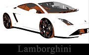 Sleek Prints - Lamborghini Print by Cheryl Young