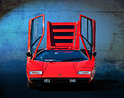 Lamborghini Countach Lp400 Print by Stuart Row