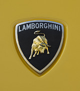 Autos Posters - Lamborghini Emblem 2 Poster by Jill Reger