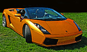 Sheats Posters - Lamborghini Gallardo Spyder Poster by Samuel Sheats