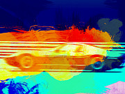 Lamborghini Prints - Lamborghini Miura Side 1 Print by Irina  March