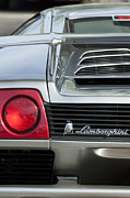 Exotic Metal Prints - Lamborghini Taillight Emblem Metal Print by Jill Reger