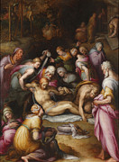 Famous Artists - Lamentation of the Dead Christ by Giovanni Battista Naldini
