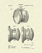 1907 Drawings - Lamp 1907 Patent Art by Prior Art Design