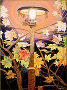 Night Lamp Painting Originals - Lamp by Daniel Janda