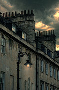 Chimneys Posters - Lamp Post Lit Poster by Jill Battaglia
