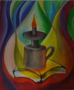 Justice Paintings - Lampe De Justice by Gradimir Charles