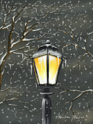 Street Lamp Framed Prints - Lampione Framed Print by Veronica Minozzi