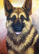 Canine Unit Prints - Lampo Print by Ana Marusich-Zanor