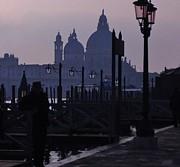 Jan Moore - Lamps at Dusk in Venice...
