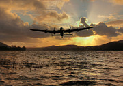 Lancaster Bomber Digital Art - Lancaster and the Lake by James Biggadike