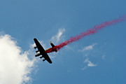 Bomber Command Photos - Lancaster bomber poppy drop by Gary Eason